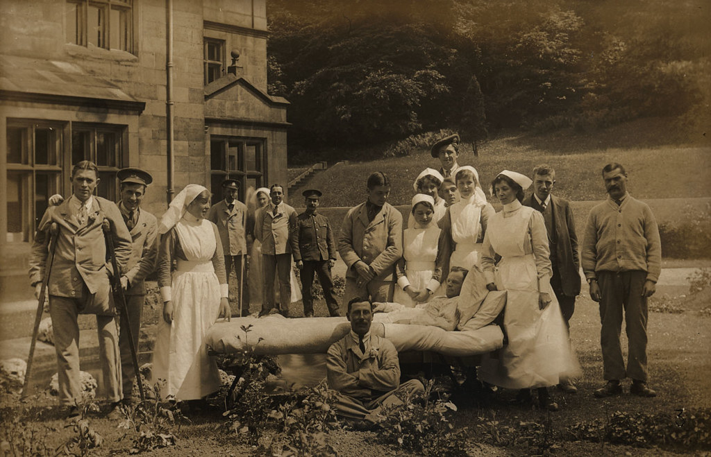 The Garden, Longshaw Lodge Convalescent Home for Wounded Soldiers