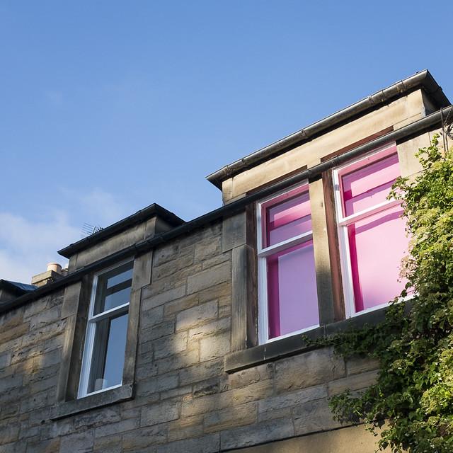 Pink blinds, Edinburgh
