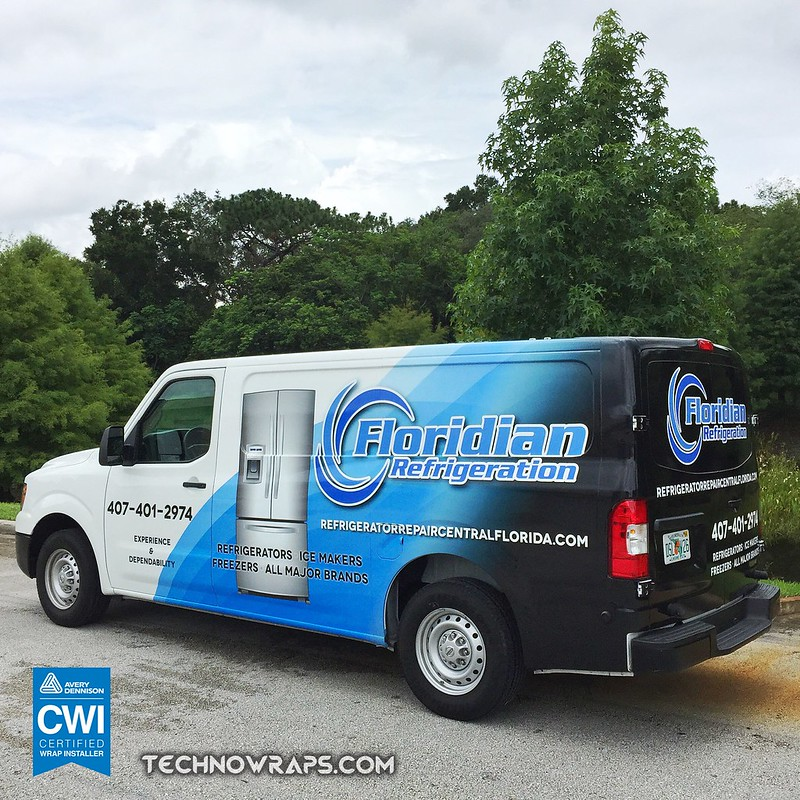 Wrapped cargo van by TechnoSigns in Orlando