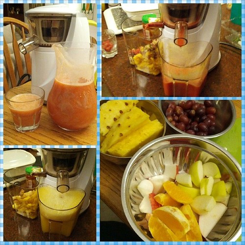 First batch of Pineapple, Apple, Orange, Grape, Strawberry w/hint of lime and ginger Juice with new juicer. | by rajman1138