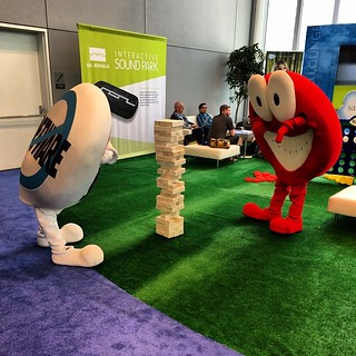 #DF13 mascots playing #jenga | by 0B1