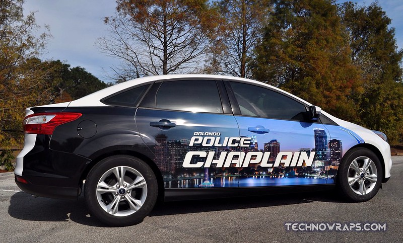 Orlando police car graphics wrap by TechnoSigns