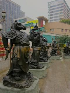 zodiac statues - Wong Tai Sin temple