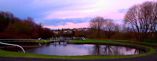 Maryhill Locks Flight , Lock 23 pond