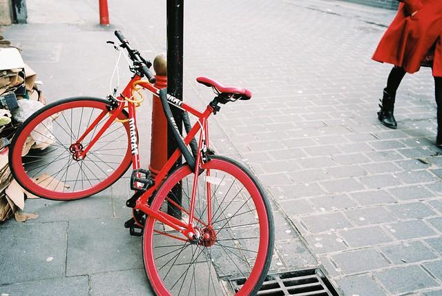 Chinatown reds #16 - bike