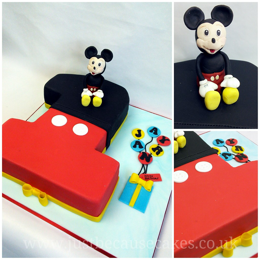 Terrific Mickey Mouse First Birthday Cake Mickey Mouse First Birthd Flickr Personalised Birthday Cards Bromeletsinfo