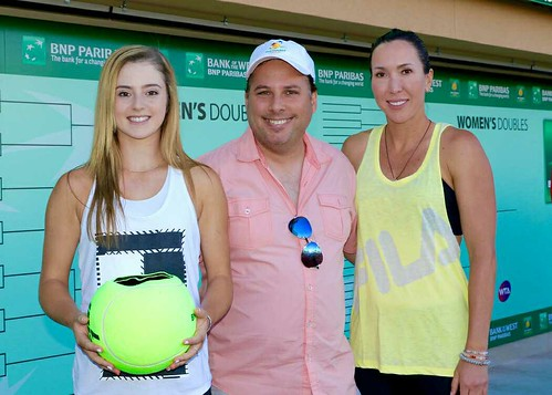 Tony with CiCi Bellis and Jelena Jankovic | by tennis buzz