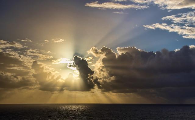Sunrise over the Atlantic.....