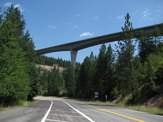 I-90 high bridge east of Coeur d' Alene, Idaho, 2010 | by theslowlane