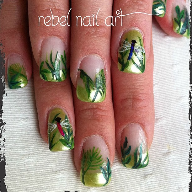 Dragonflies In The Forest Nails Forest Jungle Dragonfly Flickr