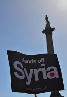 Hands Off Syria in Trafalgar Square | by morenoberti