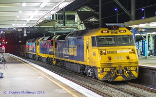 AN6-DL38-AN7 with #8934 ore train to Port Kembla at Clyde (2/10/2013). | by Bradley Matthews Photography