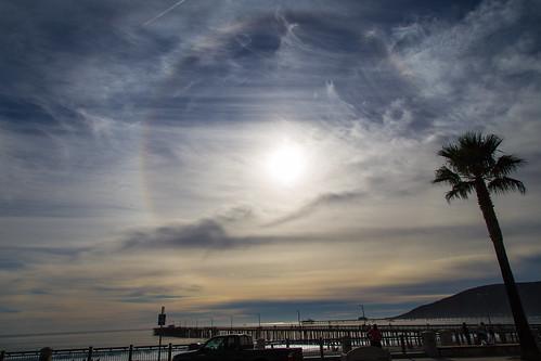 Solar Ring Rainbow In Avila   by staticantics