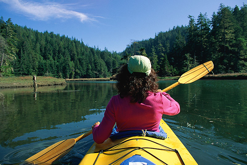 Kayaking on Vancouver Island, British Columbia, Canada