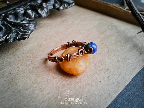 Ring with lapis lazuli | by Strangell