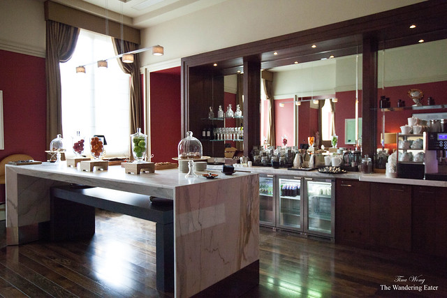 Food and beverage area at the exclusive Chambers Club