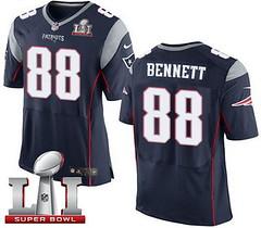 Nike Patriots #88 Martellus Bennett Navy Blue Team Color Super Bowl LI 51 Men's Stitched NFL Elite Jersey