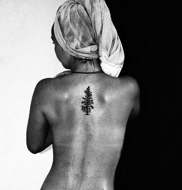 The girl with the tree tattoo