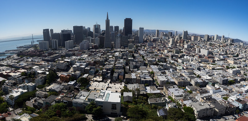 Urban Environments: Differing building heights in San Francisco, USA