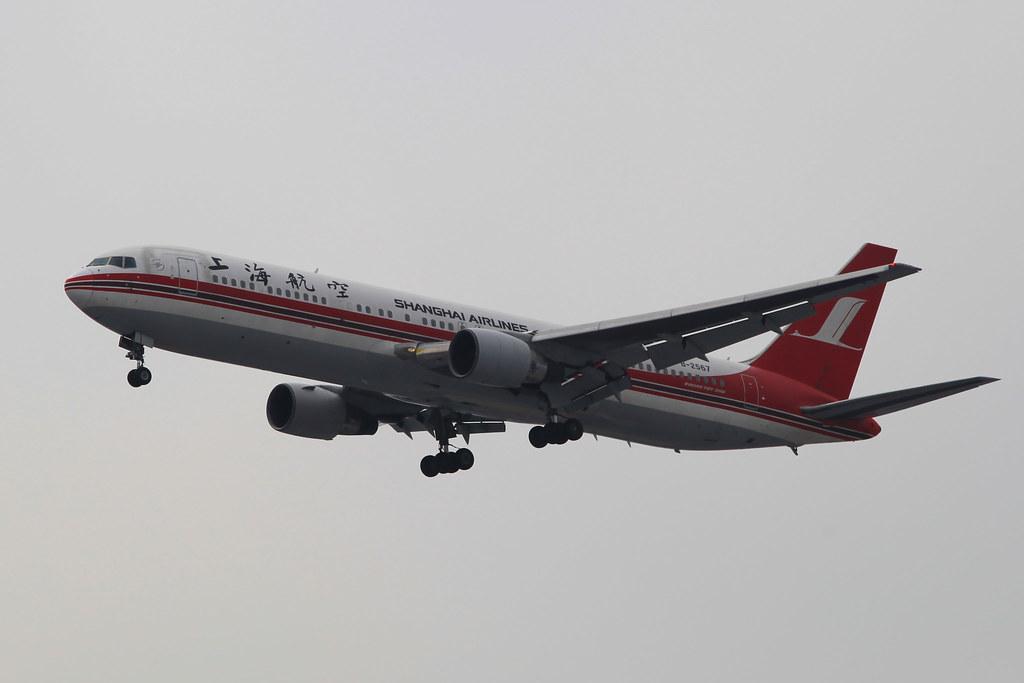 B-2567 - Shanghai Airlines - Boeing 767-36D - SHA