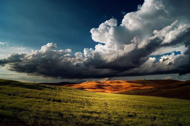 e si mettono li tra noi e il cielo  per lasciarci soltanto una voglia di pioggia