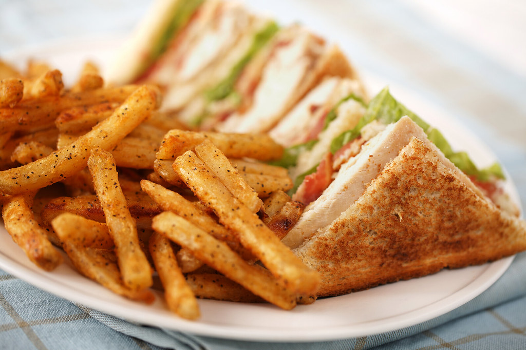 Simple Club Sandwich Chicken Club Sandwich On A White Plat Flickr