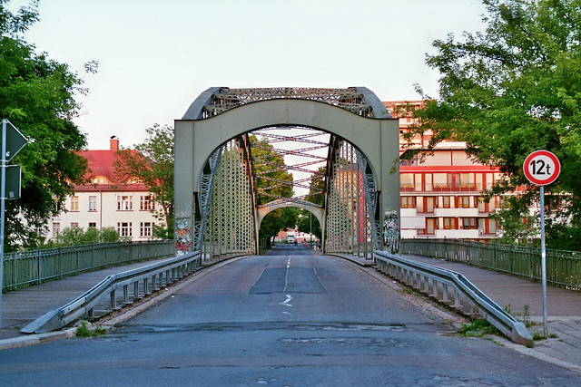 Genzmer Bridge in Halle (Saale), Germany