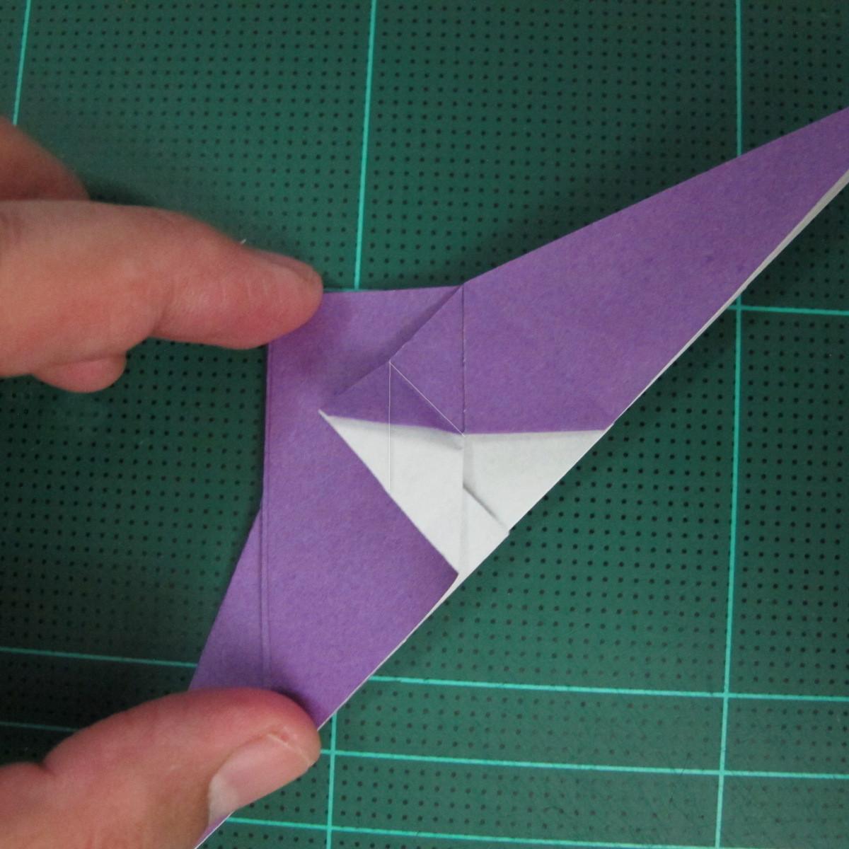 วิธีพับกระดาษเป็นรูปนกอินทรี (Origami Eagle) 011