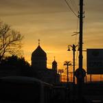 Transsibérien - Moscou - Coucher de soleil