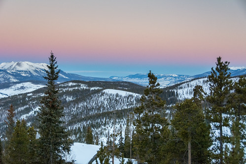mountain rocky mountains breckenridge colorado snow snowy sunrise colors twilight trees outdoors scenic landscape morning nikon d7100