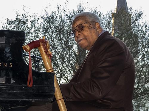 Ellis Marsalis in Jackson Square.