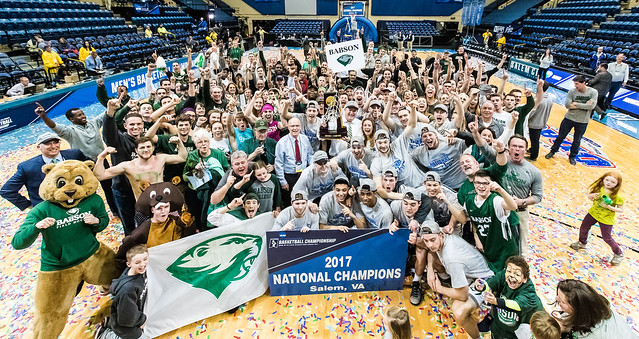 Babson's Men's Basketball 2017 National Champions