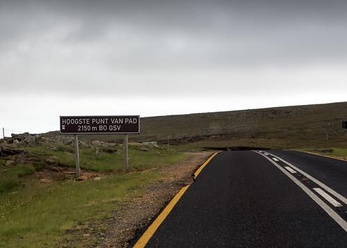 southafrica sign highestpoint road pass mpumalanga sa long tom