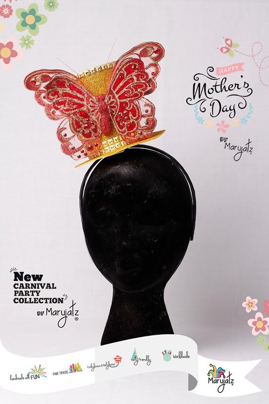 Flowers and Butterflies Golden Mini Top Hat