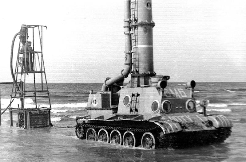 "Submersible tractor ""Crab"" based on T-54"