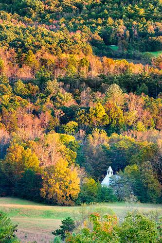 autumn trees sunset orange foothills mountain fall church colors field yellow nationalpark twilight shadows unitedstates dusk tennessee scenic clear valley hillside elevation overlook smokies townsend greatsmokymountainsnationalpark richmountainroad