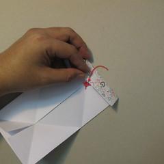 วิธีการพับกระดาษเป็นรูปหัวใจ 007