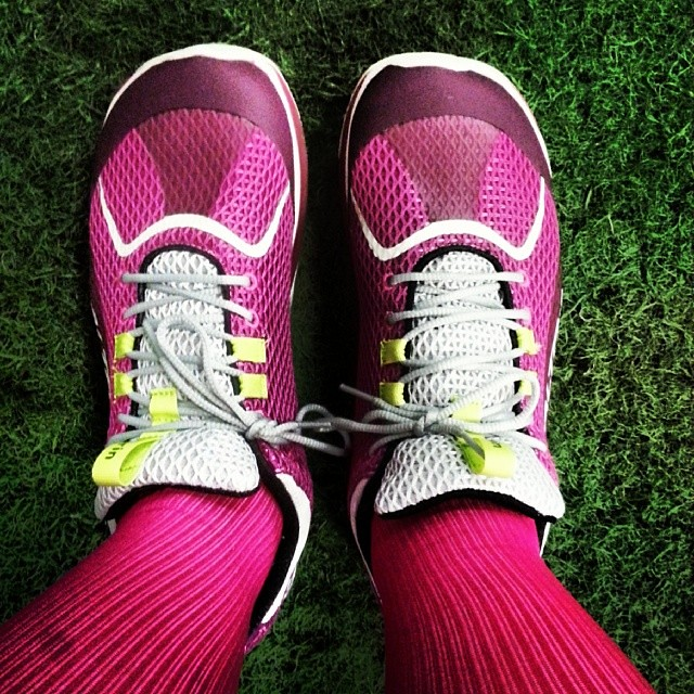 New kicks on the indoor turf. Love my #altra #shoes!I