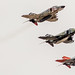 Pilots of 82nd Aerial Target Squadron Detachment 1 led the final military flight of the storied F-4 Phantom II at Holloman AFB, N.M., Dec. 21, 2016. The F-4 Phantom II entered the U.S. Air Force inventory in 1963 and was the primary multi-role aircraft in the USAF throughout the 1960s and 1970s. The F-4 flew bombing, combat air patrol, fighter escort, reconnaissance and the famous Wild Weasel anti-aircraft missile suppression missions. The final variant of the Phantom II was the QF-4 unmanned aerial targets flown by the 82nd at Holloman AFB. (U.S. Air Force photo by J.M. Eddins Jr.)