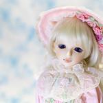 Visuadoll 萌黄 MSD 42cm用ドレス 帽子付き
