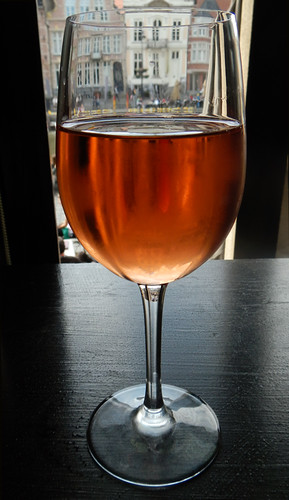 Rosé Wine on a Sunny Day in Ghent
