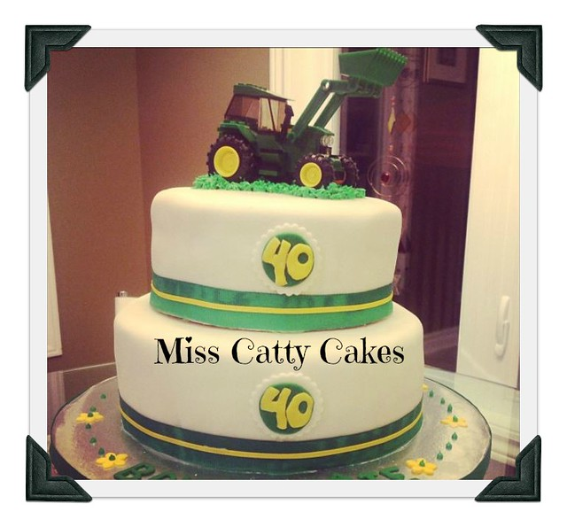 Tremendous Tractor Birthday Cake Miss Catty Cakes Cake Design Flickr Funny Birthday Cards Online Fluifree Goldxyz