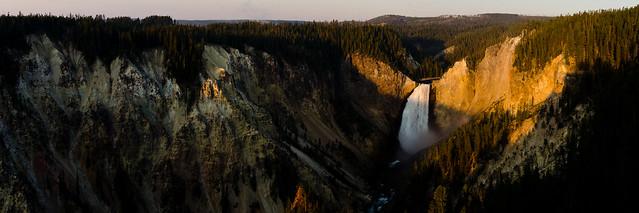 morning light on the falls