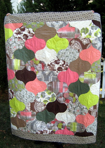"""Mint Chocolate Chip"" quilt 