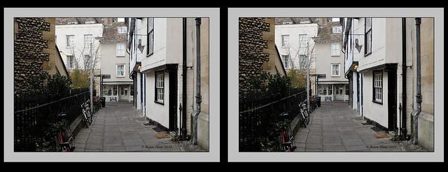 Street in Cambridge - 3d crossview