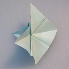 การพับกระดาษรูปดอกมอร์นิ้งกลอรี่ (Origami Morning Glory – アサガオの折り紙) 011