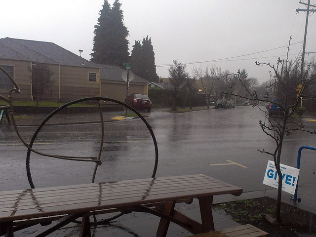 No polar vortex in the Northwest, just rain, and lots of it.