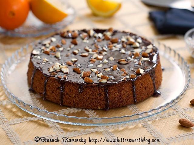 Chocolate, Almond, and Orange Cake