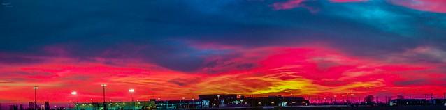 031517 - Sweet Nebraska Sunset (Pano)