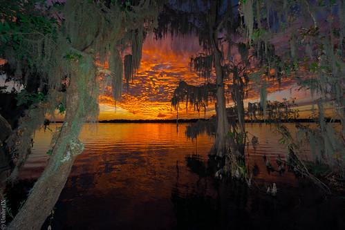 centralflorida deland florida lake water sunset reflection spanishmoss sonyphotography sony